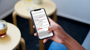 iphone x reader giving feedback