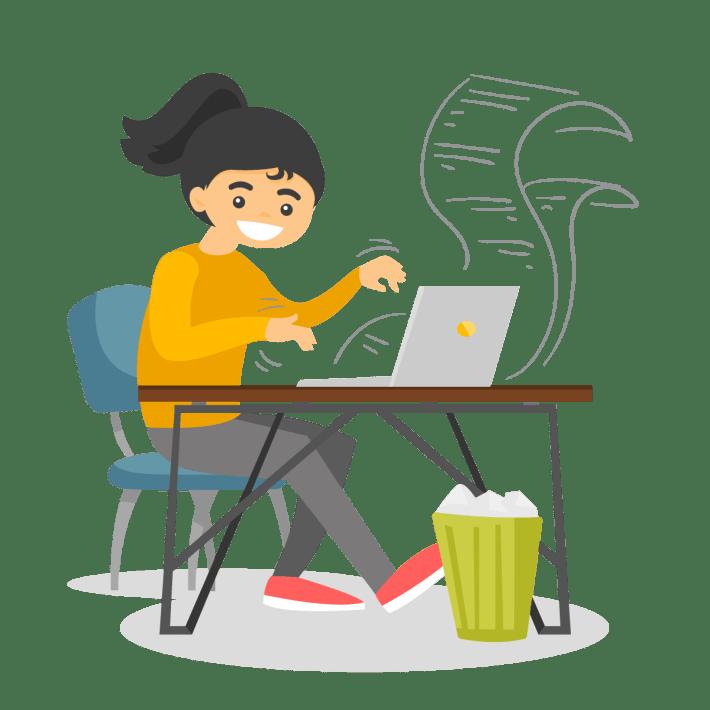 author writing