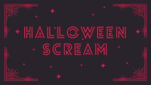 Halloween Scream banner
