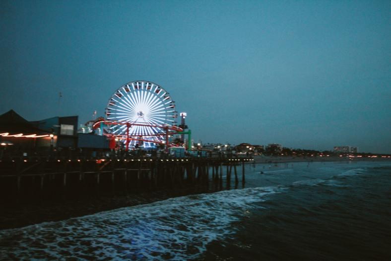 Ferris Wheel in los angeles at night