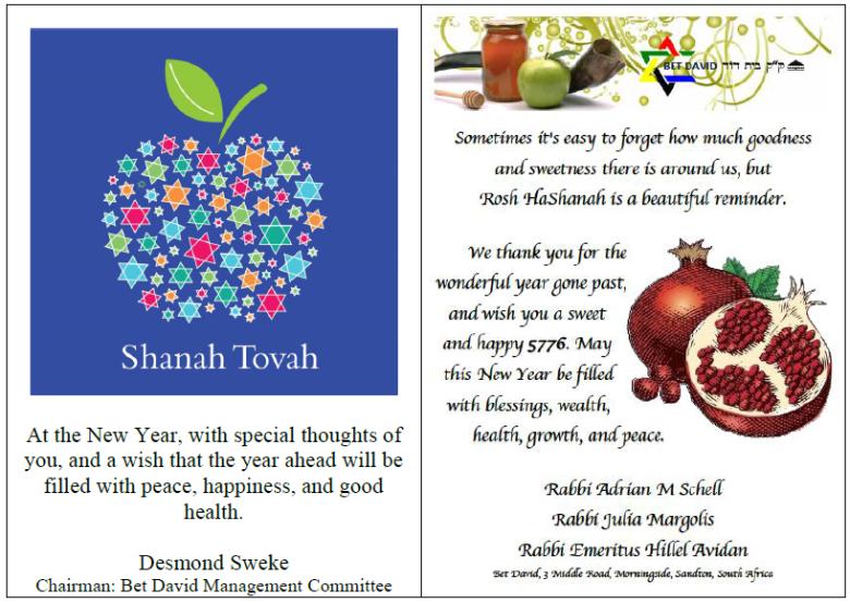 Greetings Rabbinic Team and MC