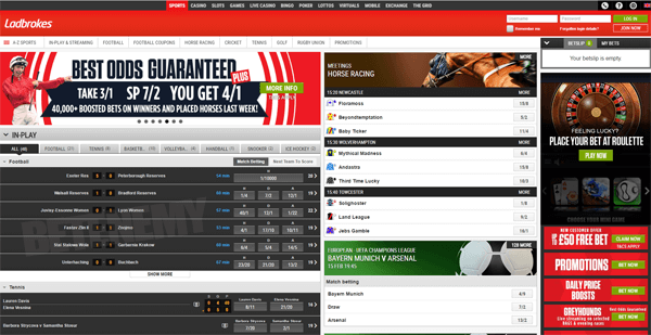 ladbrokes website homepage