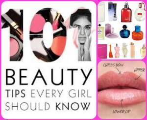 Beauty 101: Random Beauty Tips Collage