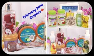 Body & Hand Cleansers,Vitamins and Perfumes Samples Empties for February 2014