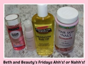 Beth and Beauty's Fridays Ahh's! or Nahh's! Skin Products