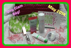 May 2014 Ipsy Glam Bag and Products
