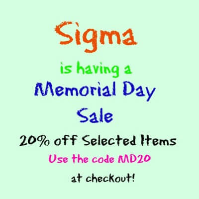 Sigma Memorial Day Sale
