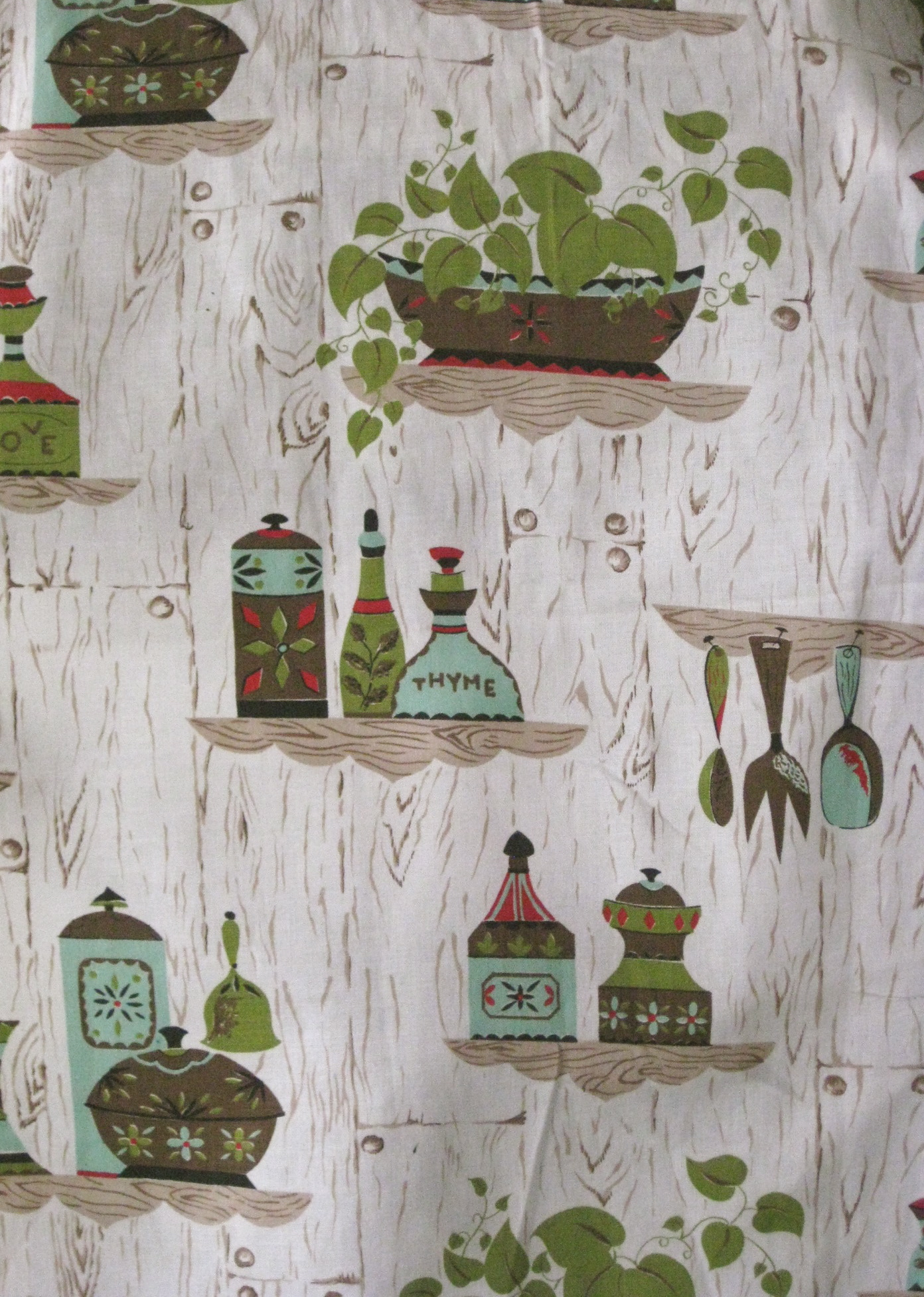 retro kitchen curtain fabric clothed