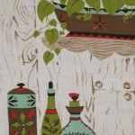 Wtsenates Enchanting Retro Kitchen Curtains 1950s Fabric In Collection 6594