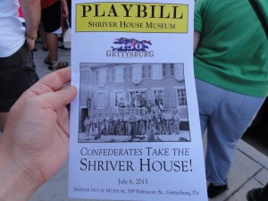 Program for the sketch at the Shriver House Museum