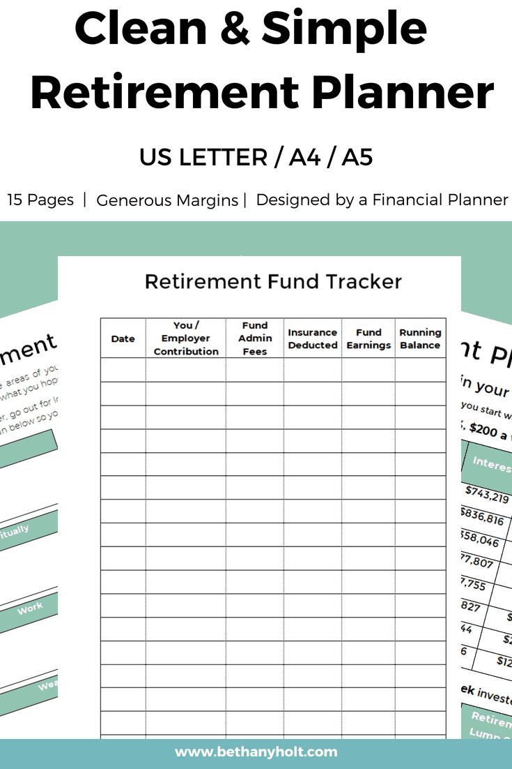 graphic regarding Printable Financial Planner named Retirement Planner Retirement Finances Economical Planner