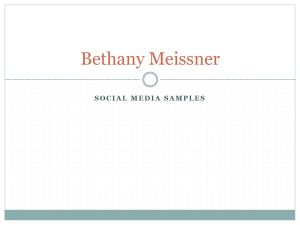 Bethany Meissner's Social Media Sample Deck