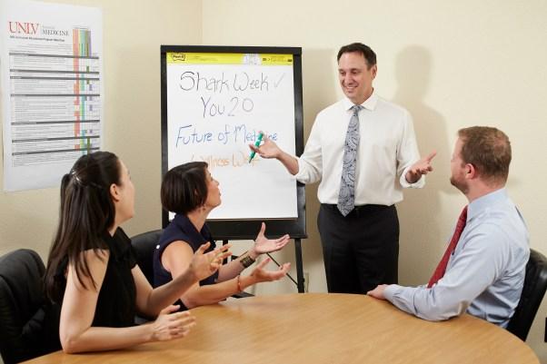 School of Medicine, Intersession, white board, collaboration, faculty