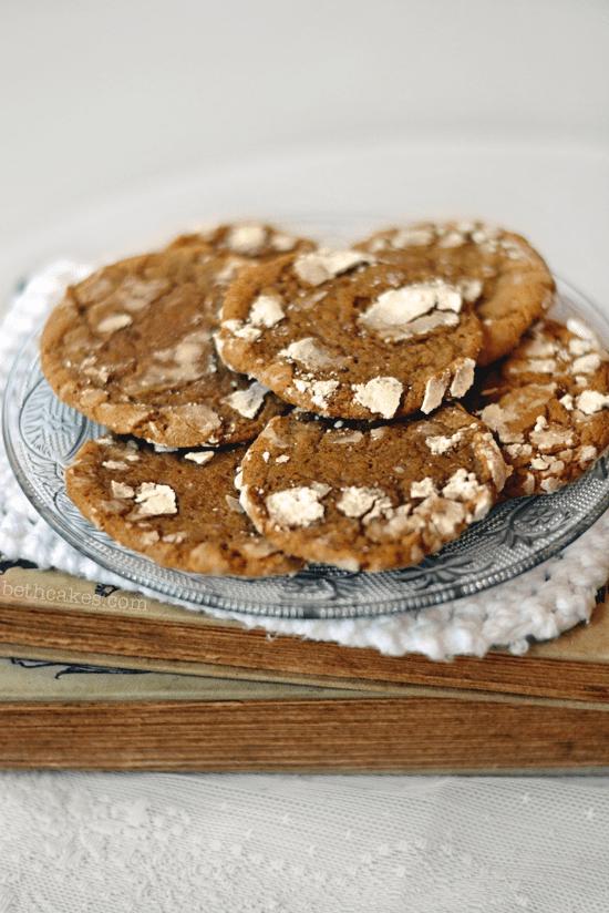 Homemade Gingerbread Crinkle Cookies - bethcakes.com