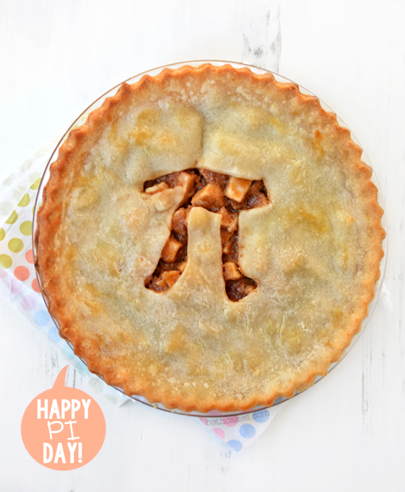 Brown Butter Caramel Apple Pie for Pi Day! bethcakes.com