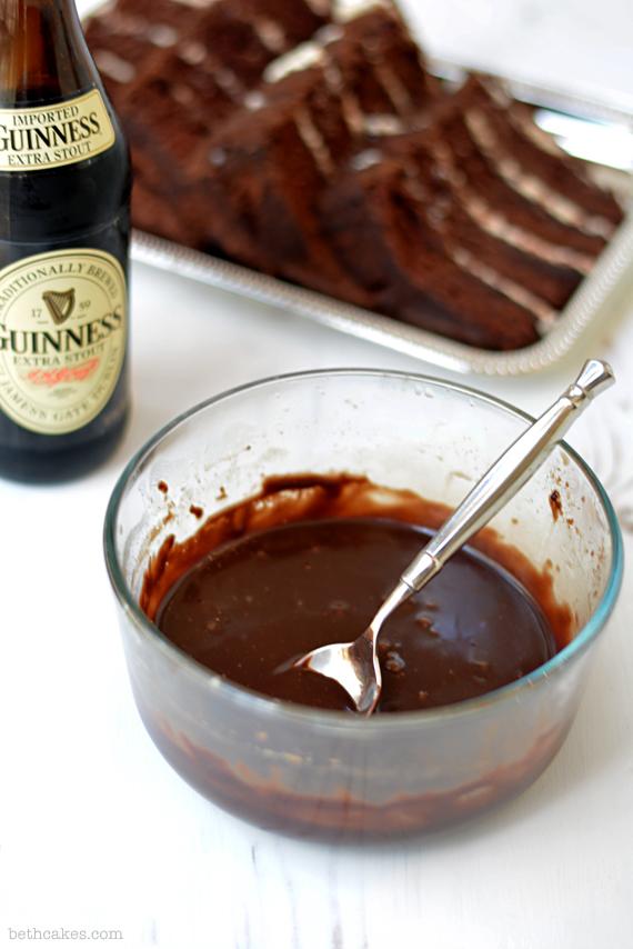 Chocolate stout cake milkshakes with stout whipped cream and chocolate stout ganache. bethcakes.com