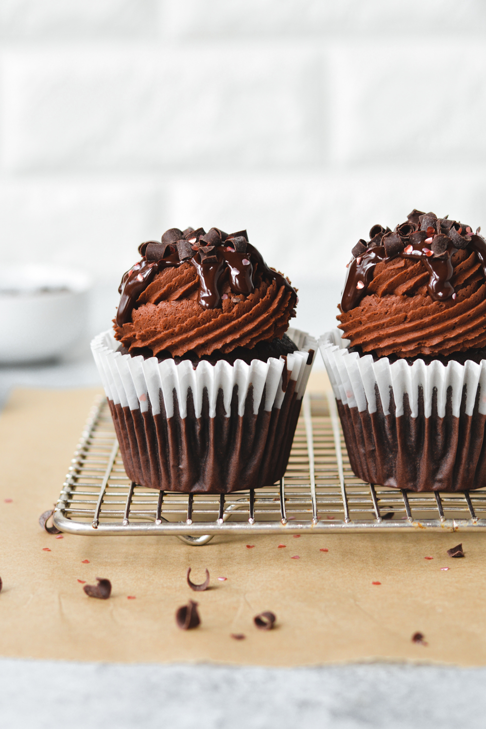 Chocolate Cupcakes for Two - bethcakes.com