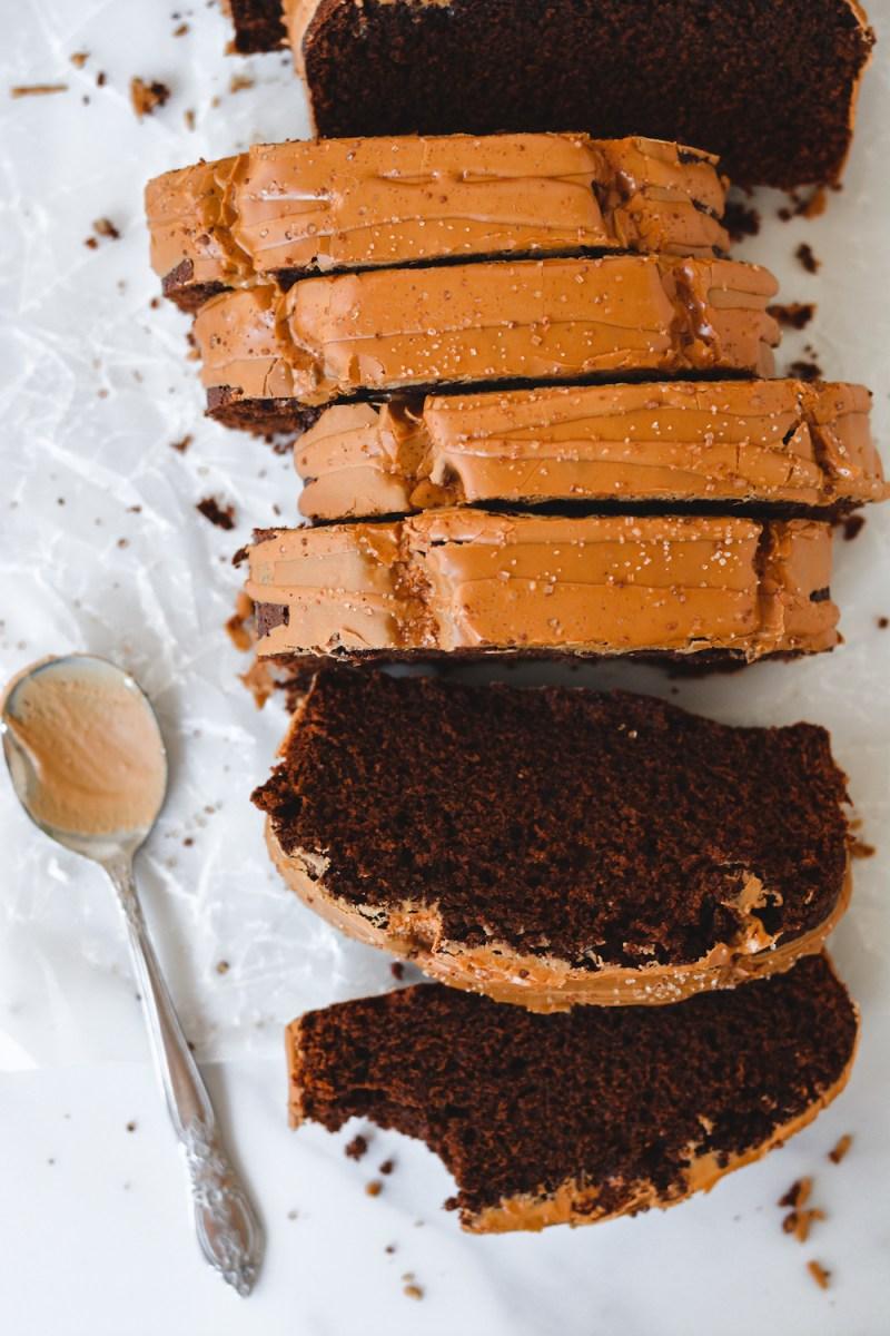 Mocha Loaf Cake with Coffee Glaze - bethcakes.com