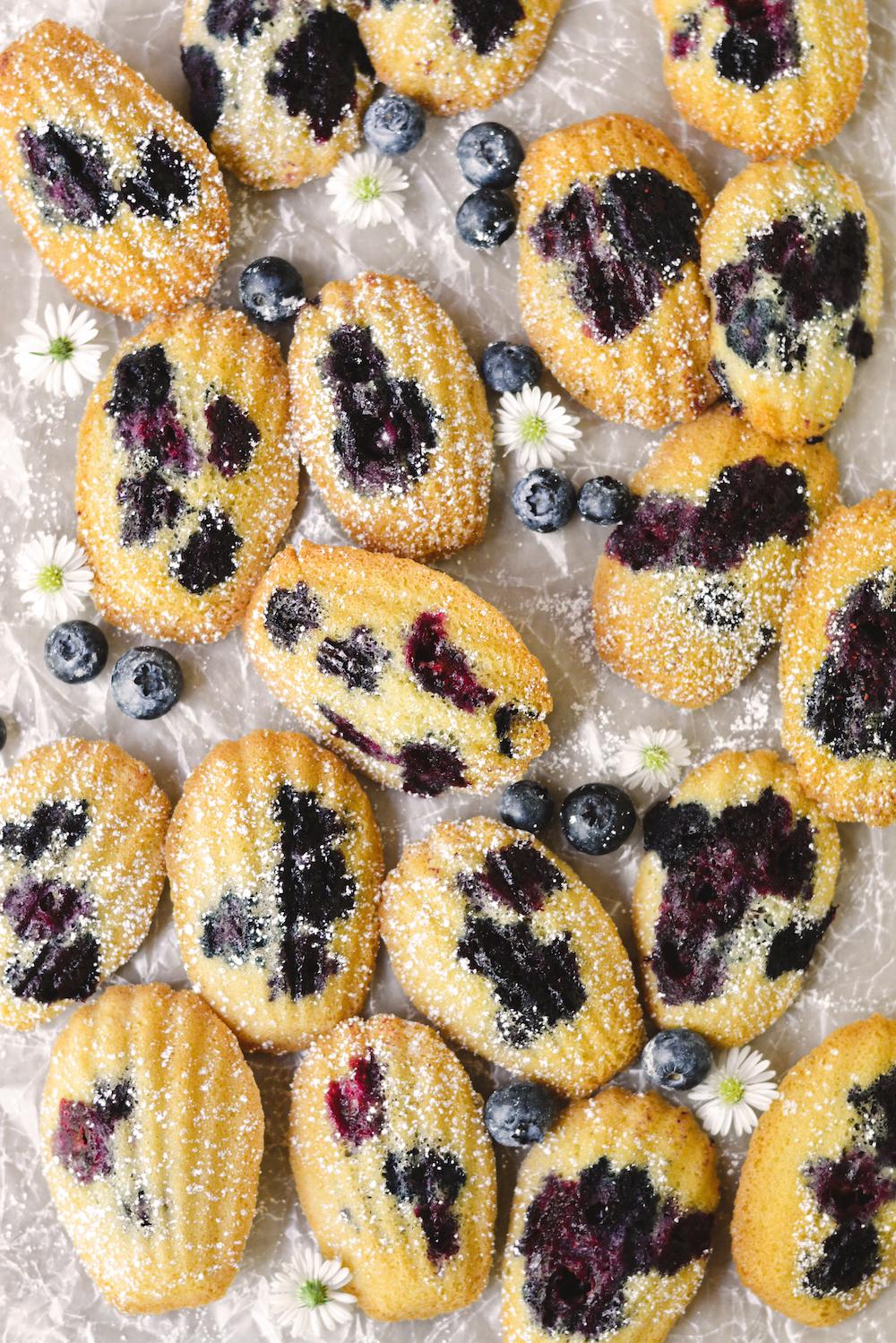 blueberry madeleines - bethcakes.com