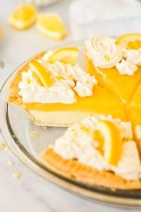 lemon truffle pie - bethcakes.com