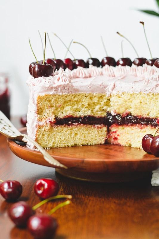 bourbon cherry cake - bethcakes.com