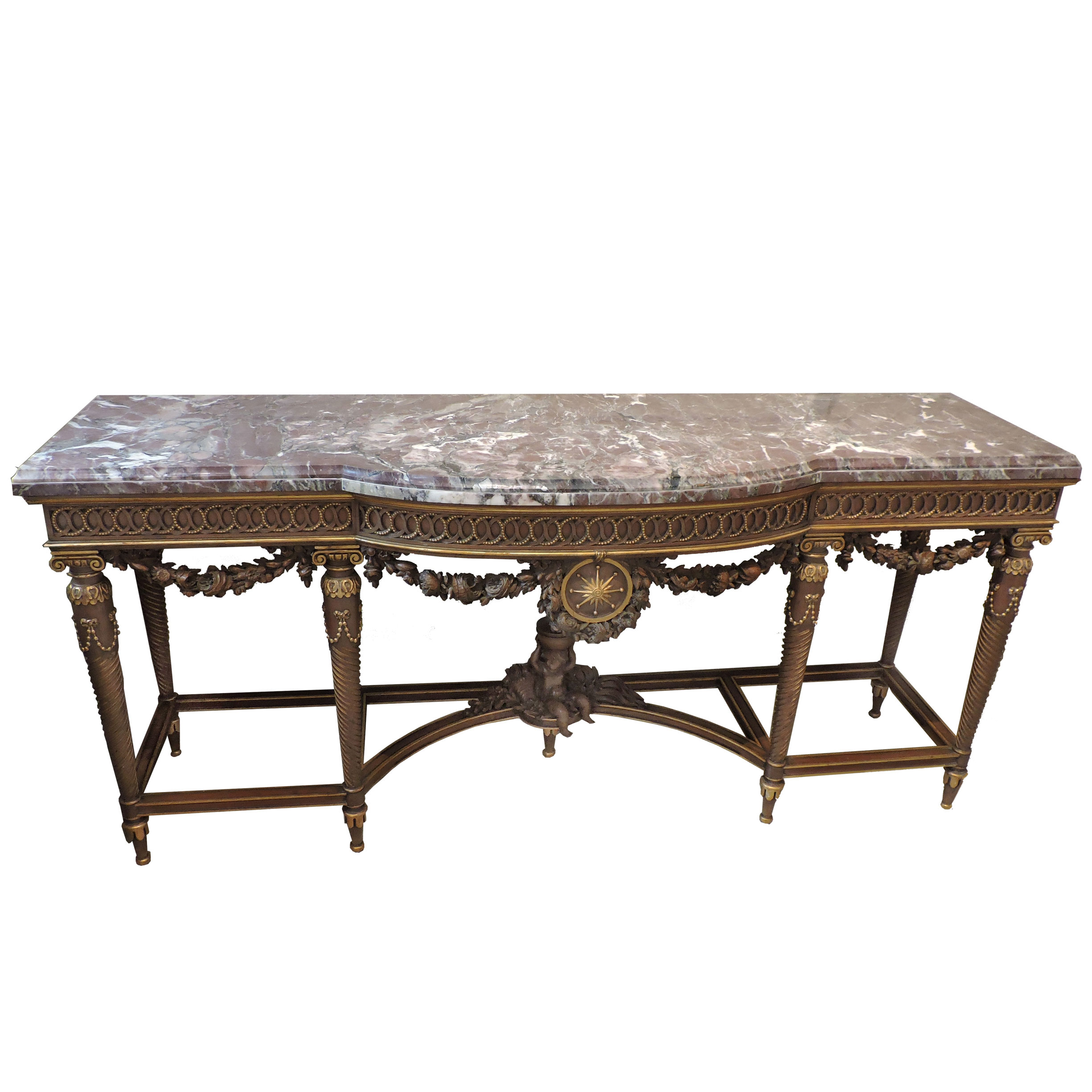 Louis XVI Marble Console Table Beth Claybourn Interiors