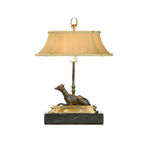 Greyhound Bookcase Lamp