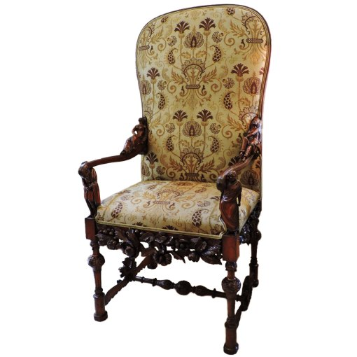 antique Italian Carved Arm Chair