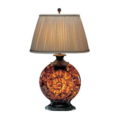 Translucent Penshell & Verdigris Patina Brass Snail Lamp