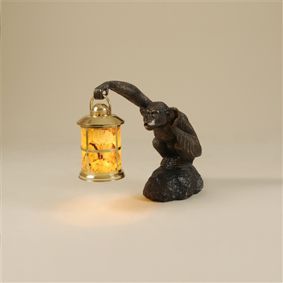 Dark Bronze Finished Brass Monkey Table Lamp