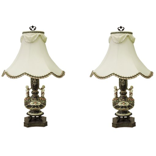 Pair of Antique Vase Lamps