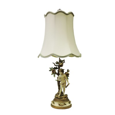 Antique Musical Cherub Lamp