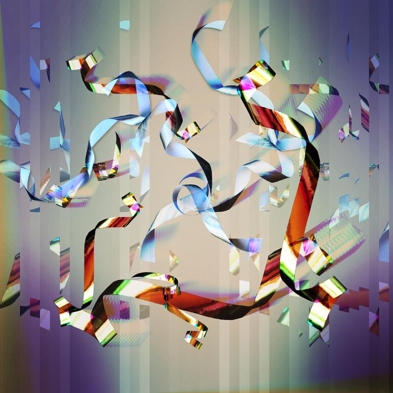 generative art glitch ribbon 4