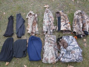Different materials from sweat-wicking under layers to protective outer layers will help keep you warmer -and without the bulk- than a couple thick garments so you are still able to pull a bow back. The author will wear as many as six layers, but will only wear her heavy coat on a bowhunt if absolutely necessary to stay in the field.