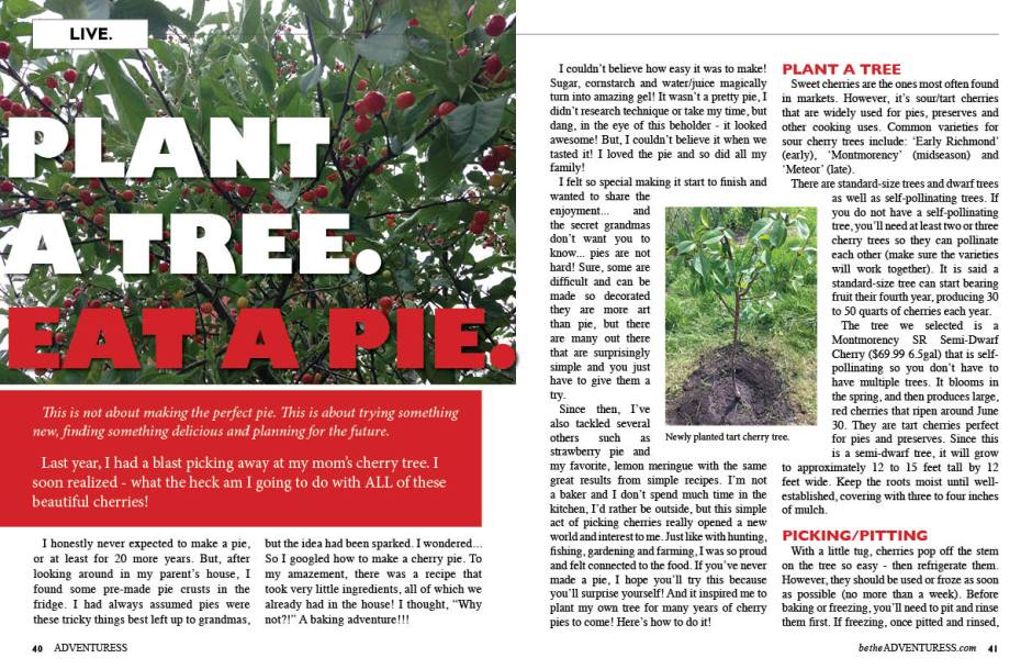Plant a Tree. Eat a Pie.