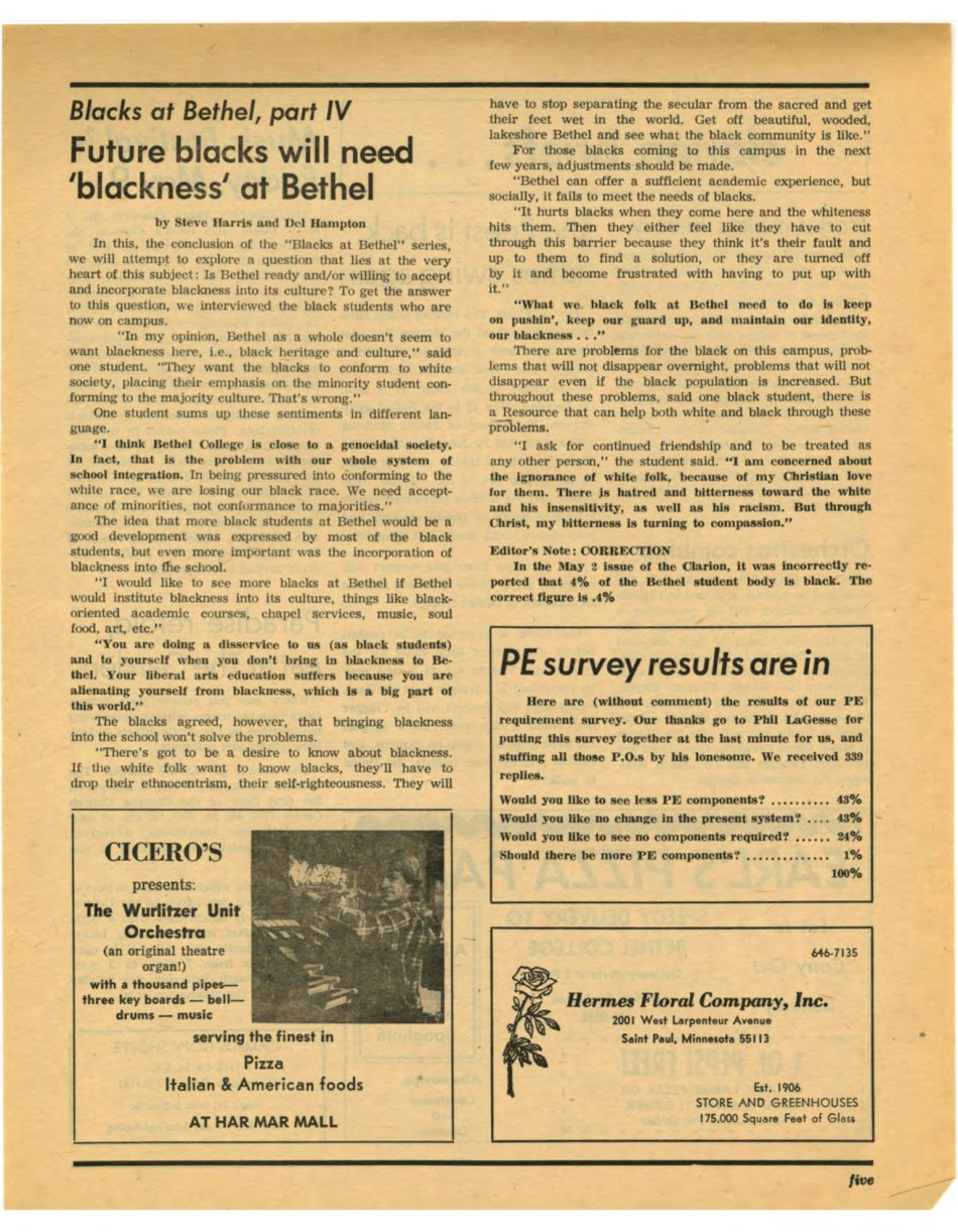Clarion 1975-05-09 Vol 50 No 25 - Clarion Student Newspaper - CLIC Digital Collections