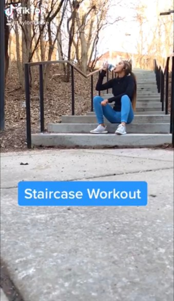 Screenshot from Fondie's video workouts