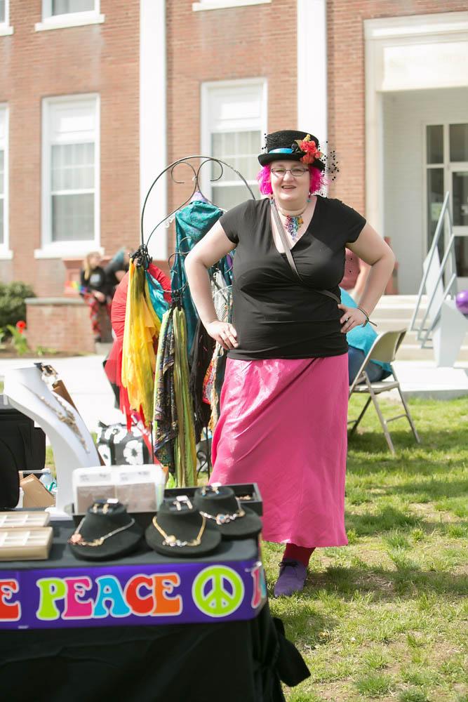 A vendor at the Bethel CT Pride LGBTQ+ Parade in Bethel, CT