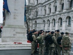 Army Cadet Force members by the Cenotaph