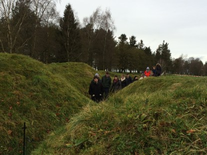 Preserved trenches at Newfoundland Memorial Park