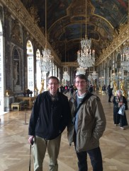 Profs. Mulberry and Gehrz in Versailles' Hall of Mirrors