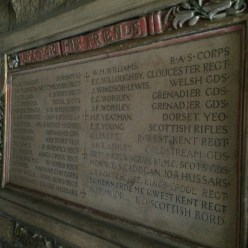 The WWI roll of honor in Magdalen College, Oxford