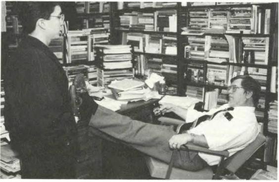 Advising a student ca. 1994