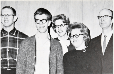 GW as junior class president in 1963-64