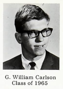 GW as a Bethel senior, 1964-1965