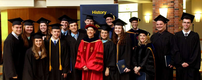 Faculty and 2017 graduates of the Bethel History Dept.