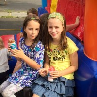 Bethel Lutheran Block Party Kids with Snowcones