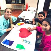Art class at La Escuela