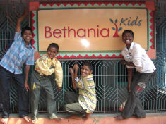 Boys with the Bethania sign