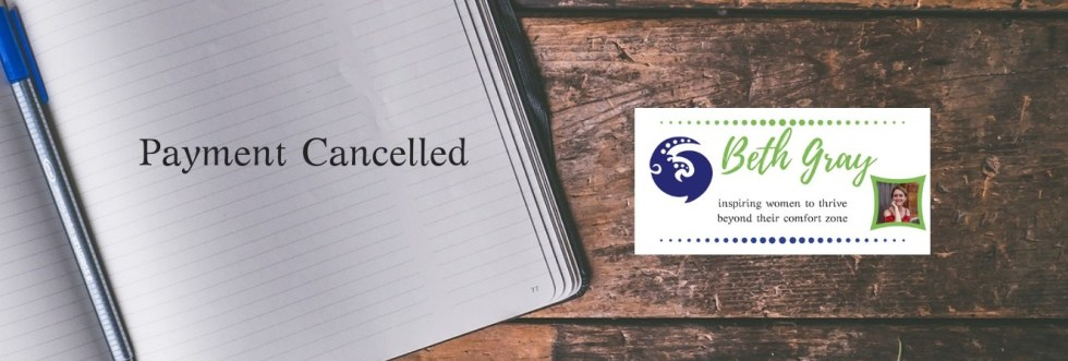 Beth Gray, inner life coaching, payment cancelled, paypal